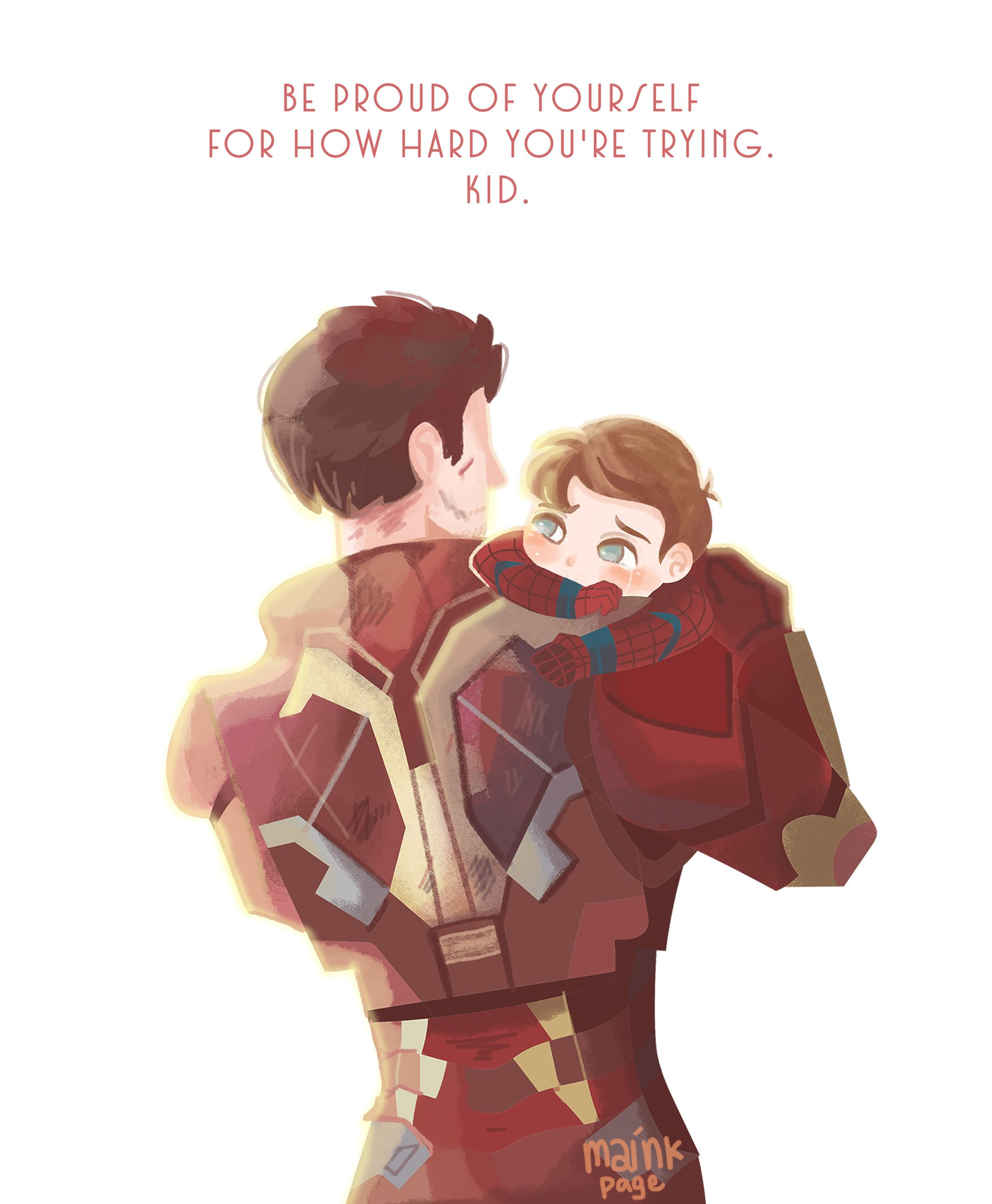 Papa Tony And Little Peter Ironman Tonystark Heroes Marvel Superheroes Marvel Arte De Marvel