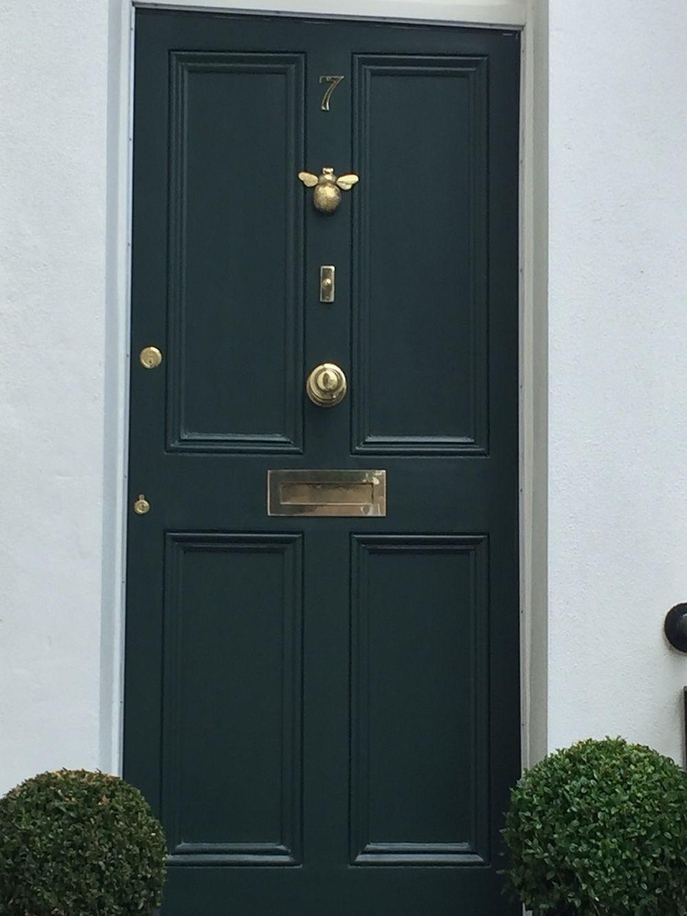 bee door knocker brass hallway apartment front doors. Black Bedroom Furniture Sets. Home Design Ideas