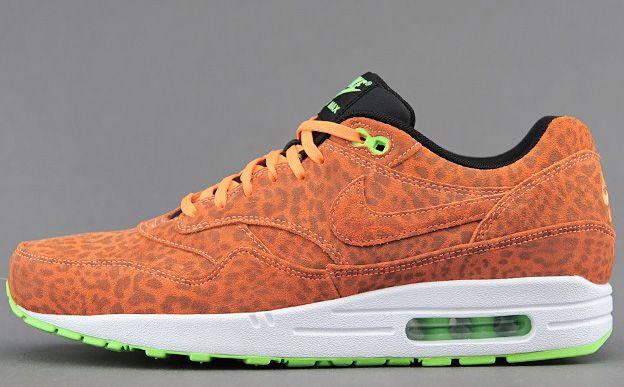 nike air max 1 orange leopard
