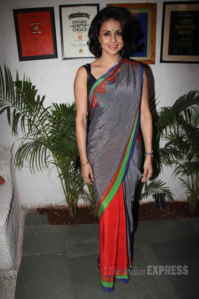 Gul Panag was a pleasant sight in her sari style! Gul