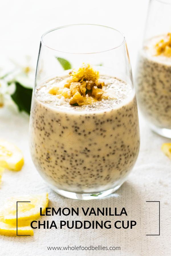 Zesty Lemon and Vanilla Chia Pudding Cups