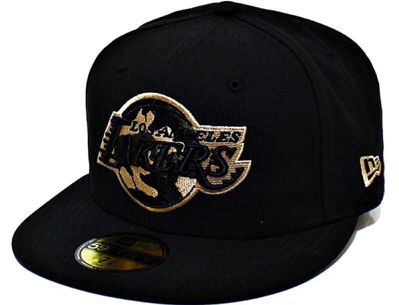 dcfb15ff217 Los Angeles Lakers Camo Fill 59Fifty Fitted Baseball Cap by NEW ERA x NBA