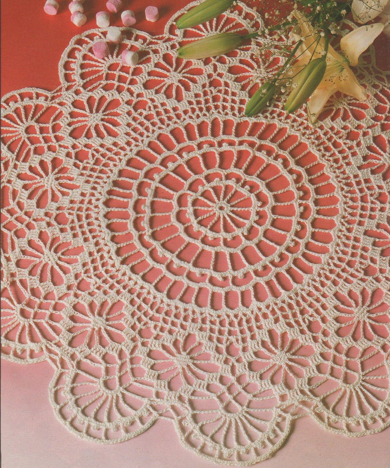 crochet napperon rond festons tutoriel gratuit. Black Bedroom Furniture Sets. Home Design Ideas