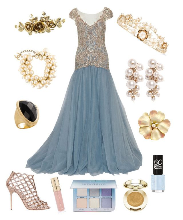 """""""Lemanja"""" by superdimitri on Polyvore featuring Rosantica, Marchesa, Lanvin, Chanel, Rivka Friedman, Sergio Rossi, Milani, Anastasia Beverly Hills and Smith & Cult"""