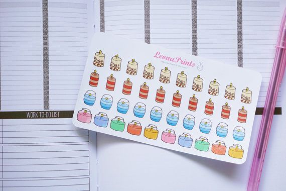 Candle Planner Stickers  Stationery for Erin by LeonaPrints #planner #stickers #candle #candlelight #cozy #stationery #planning #plan #etsy #handmade #crafts #diy #draw #handdrawn #kikkik #erincondren #filofax #matt #plannercommunity