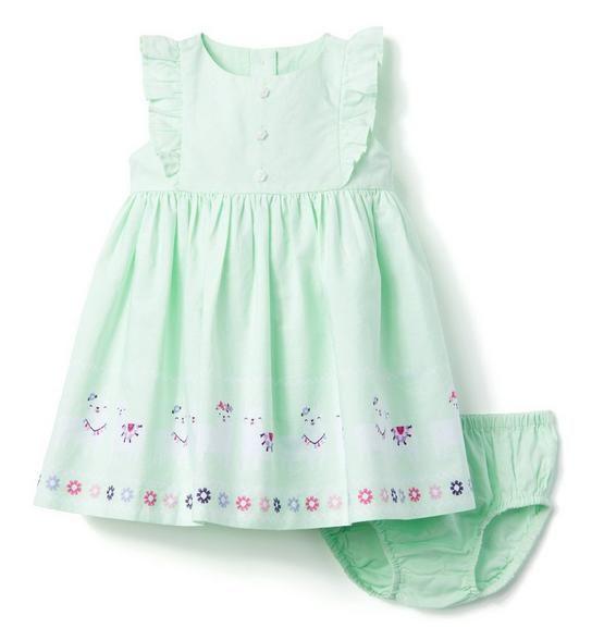 2d39da5ef Baby Sweet Mint Llama Dress by Gymboree
