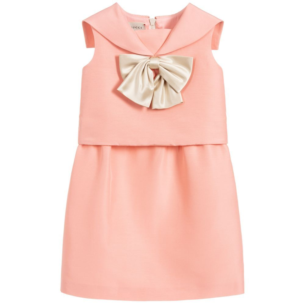 2cdaca8a8 A beautiful light pink dress for girls by Italian brand, Gucci. Made in a
