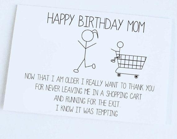 Photo of Mother Birthday, Mom Birthday, Funny Birthday Card, Silly Funny Joke Birthday Ca… – Michelle Brandle – Trend Ideas