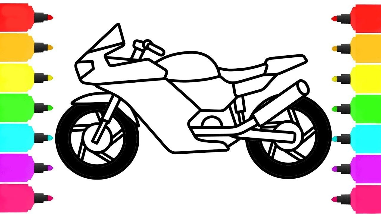 How To Draw Motorbike Coloring Pages For Children Drawings Coloring Pages Color