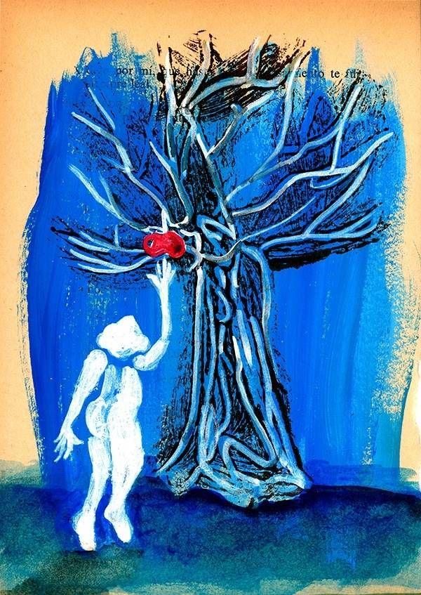 Forbidden Fruit , Pintura Acrílico Figura Humana original por Mariana Mizarela