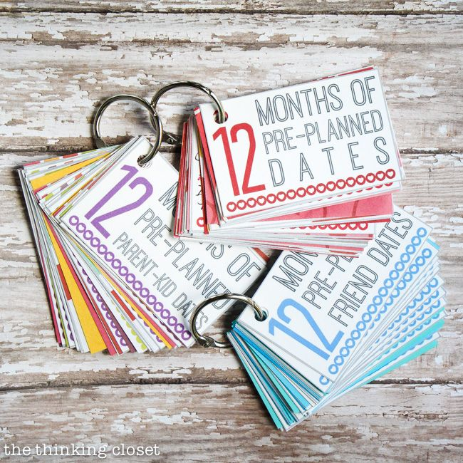 Pre Wedding Gift Ideas: FREE Printable Pack: 12 Months Of Pre-Planned Dates