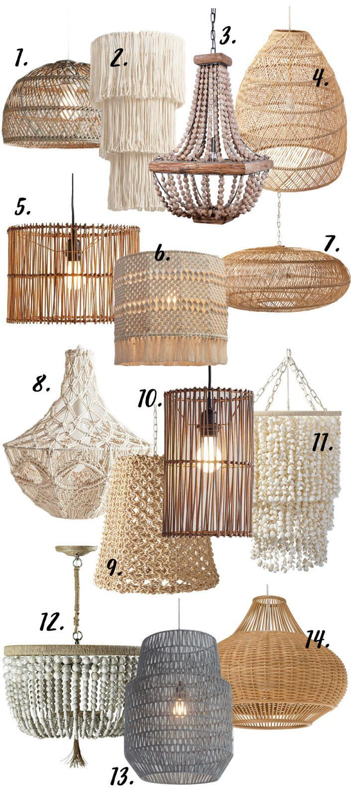 MODERN BOHO CHANDELIERS & PENDANT LIGHTS – 14 CHIC OPTIONS images