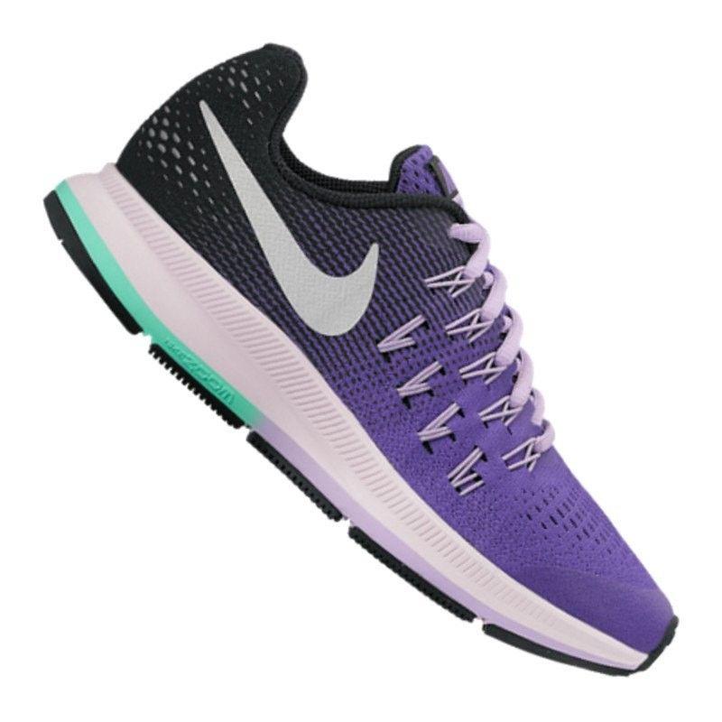 multiple colors 5ce8c 289e4 Nike Air Zoom Pegasus 33 Running Enfant, VioletNoirGris clairVert