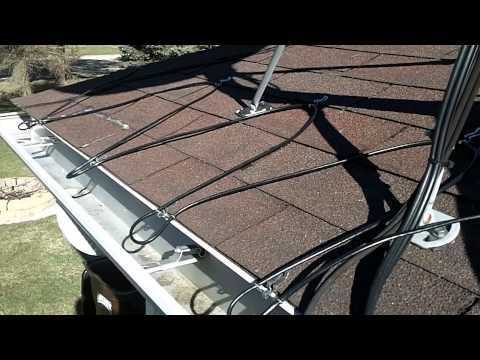Heated Gutter Cable Installation Easy Heat Cables Youtube How To Install Gutters Installation Gutter