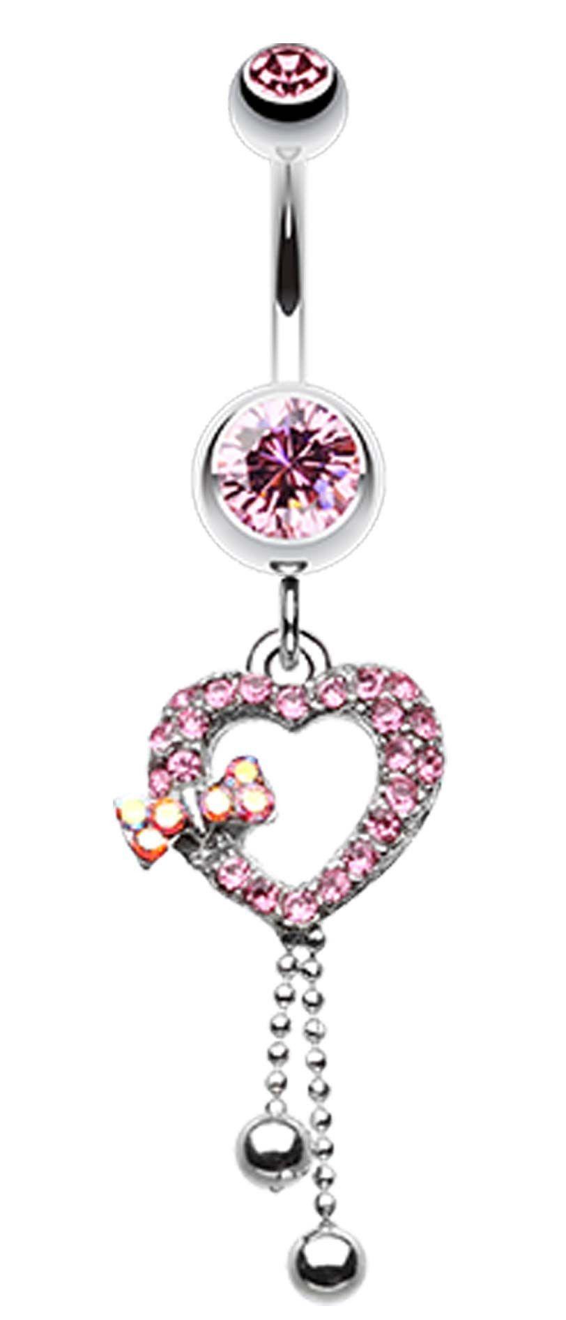 Belly button piercing jewellery  My Dainty Heart Belly Button Ring  Pinterest  Belly button Ring
