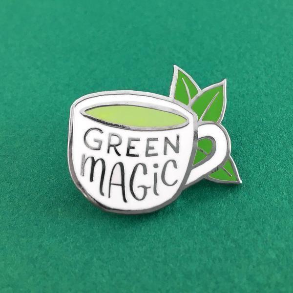 Green Magic' Pin   pins~   Jacket pins, Pin, patches, Lapel Pins