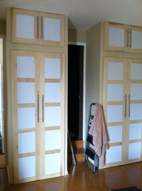 Shoji Style Sliding Closet Doors From Scratch House Pinterest