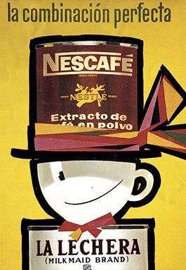 Cartel nescaf y la lechera a os 60 anuncios vintage nestl imprimibles i cartells cartel - Carteles publicitarios antiguos ...