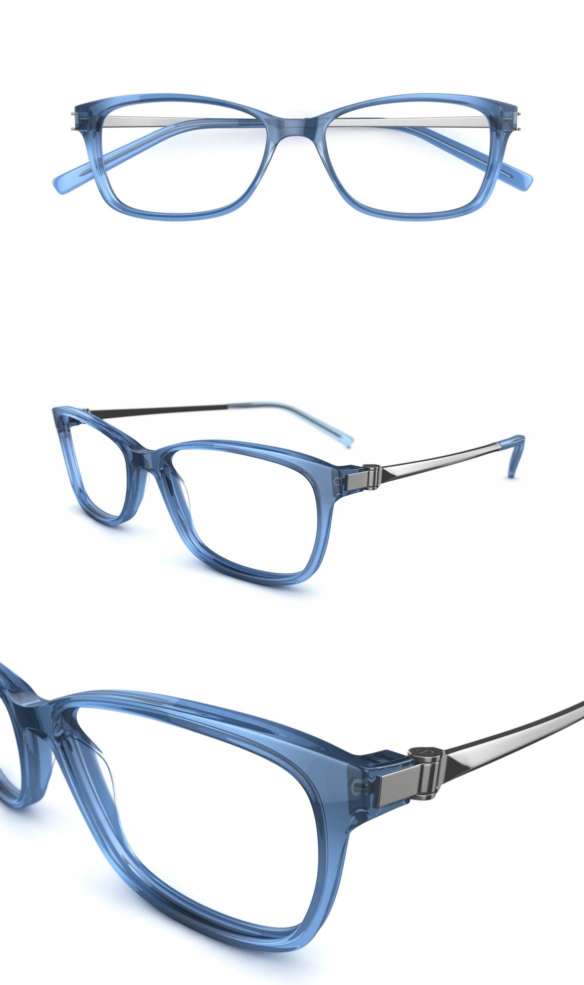 Saluda Womens glasses, Glasses, Blue frames