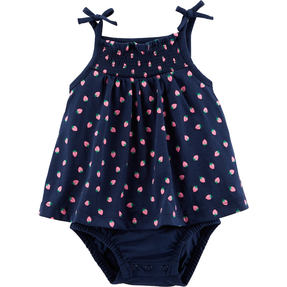 aa54b06549 Baby Girl Carter's Strawberry Sunsuit, Infant Girl's, Size: 12 ...