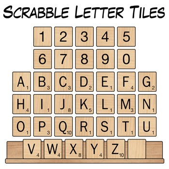Scrabble Letter Tiles Clip Art  Scrabble Letters Wood Patterns