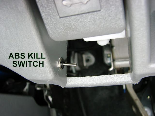 Abs Kill Switch Mod For 05 Offroad Easy Way Pics Kill Switch