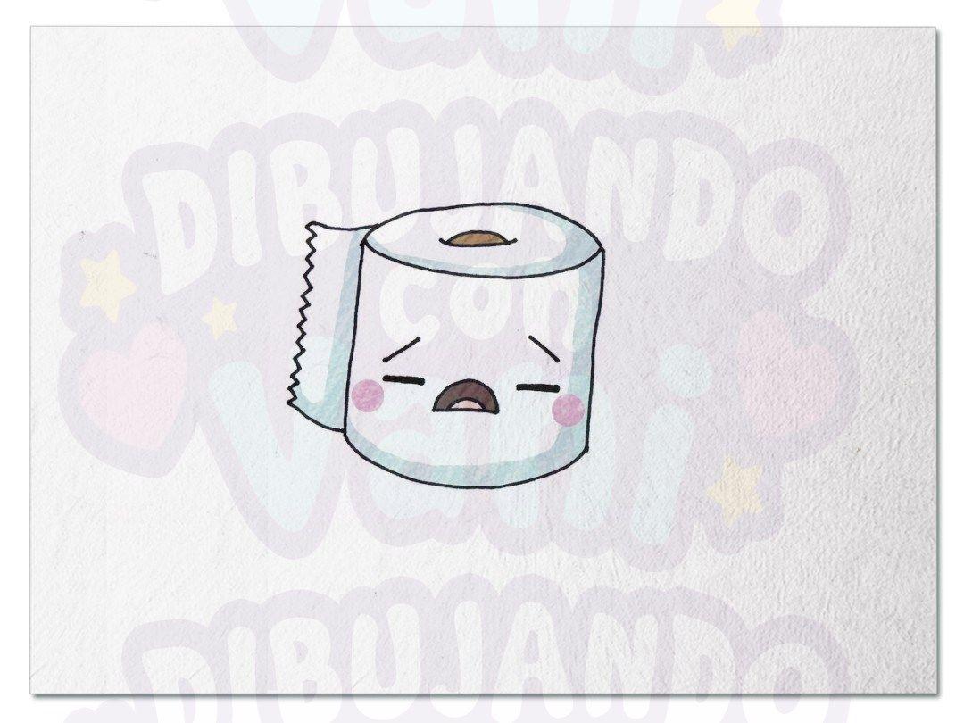 Papel Higiénico Kawaii Dibujando Con Vani En 2019 Dibujos Para
