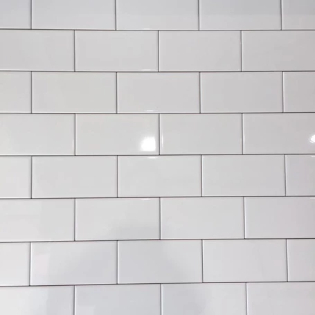 15x7 5cm Mini Metro White Flat Gloss Brick Tile In 2020 Brick Effect Wall Tiles Brick Tiles Ceramic Wall Tiles