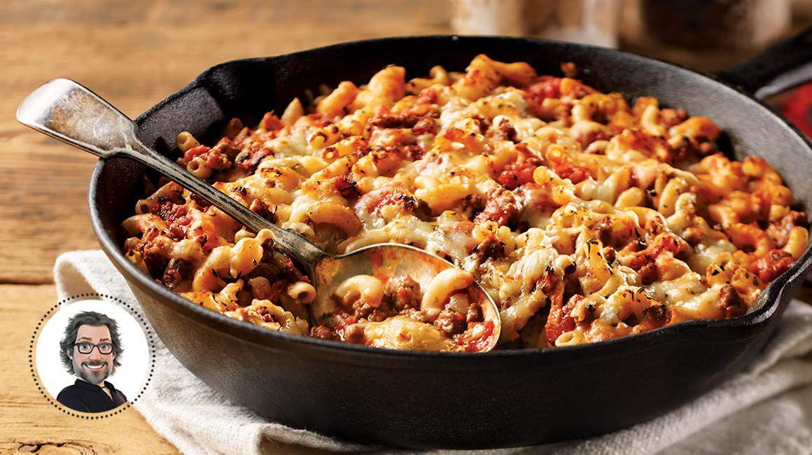 Curieux macaroni la viande recette miam p tes - Cuisiner les girolles fraiches ...