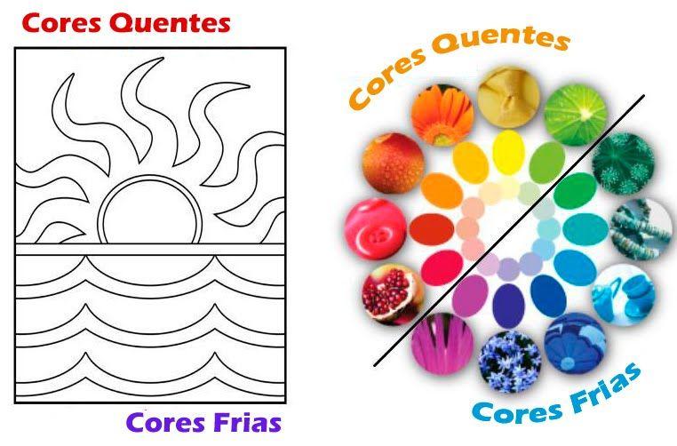 atividades de artes cores quentes e frias - Pesquisa Google