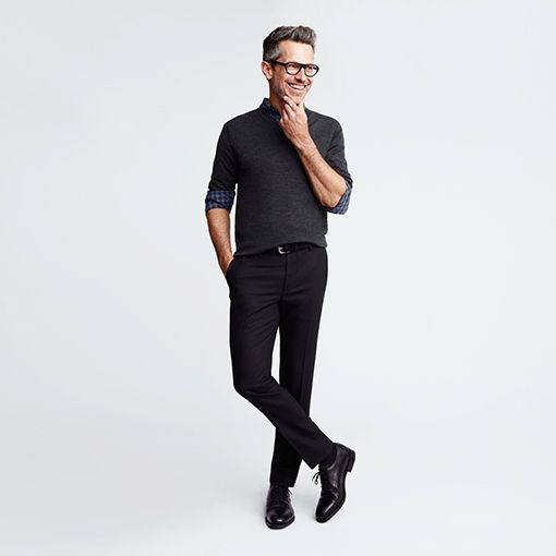 Men's Trousers | Formal Trousers | Flat Front - UNIQLO UK-UNIQLOUKOnlinefashionstore