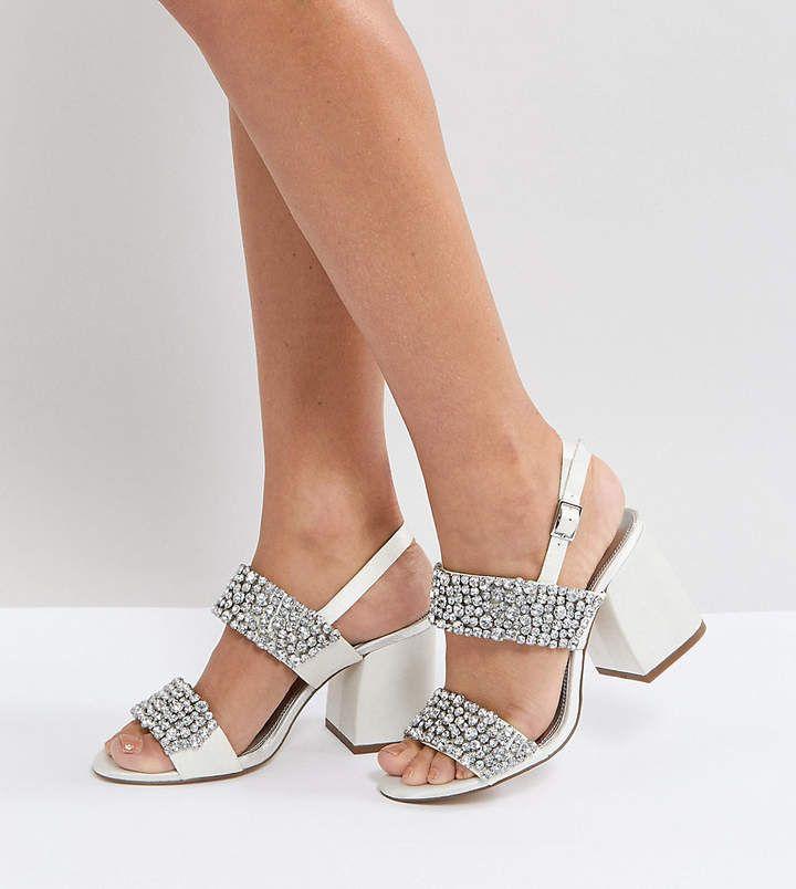 d4d2e643a3e7 ASOS HARVEST Wide Fit Heeled Sandals