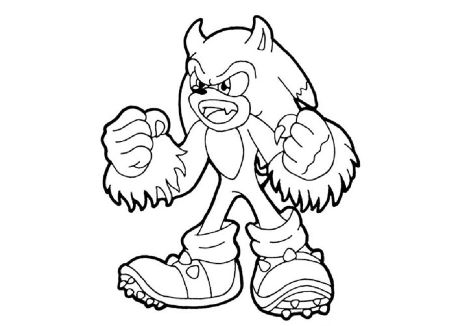 Sonic Werehog Coloring Pages