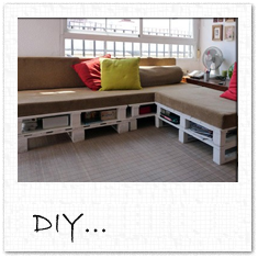 DIY pallet couch!