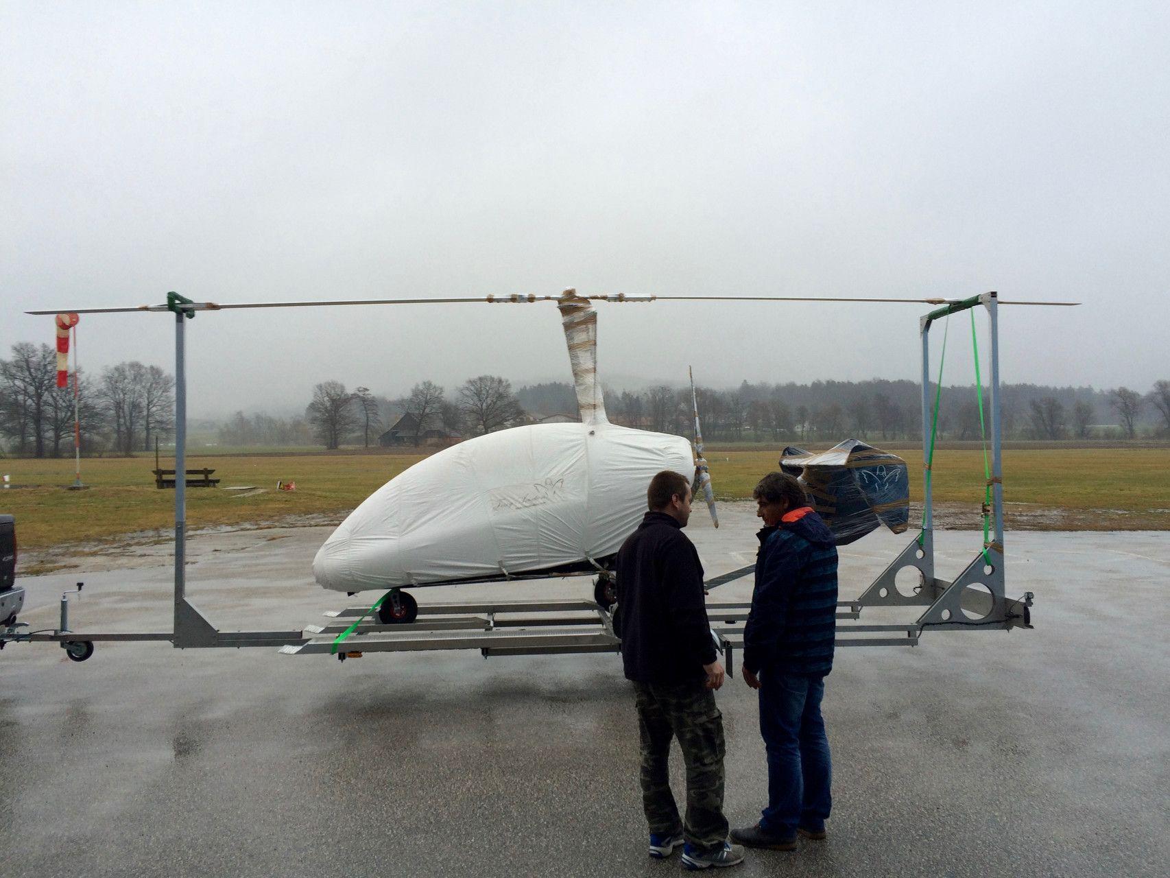REMORQUE TRANSPORT AUTOGIRE model T Volitude ULM Autogire ulm
