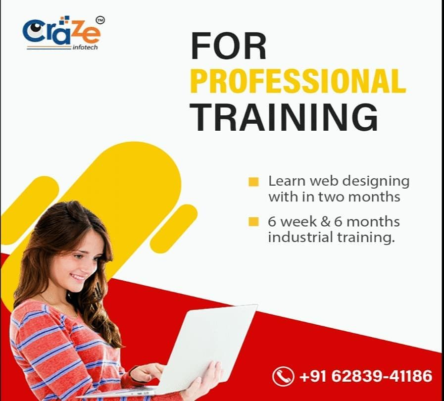 Join Our Professional 6 Weeks Months Industrial Training And Learn Professional Web Designing In This Training Sessi In 2020 Learn Web Design Web Design Design Skills