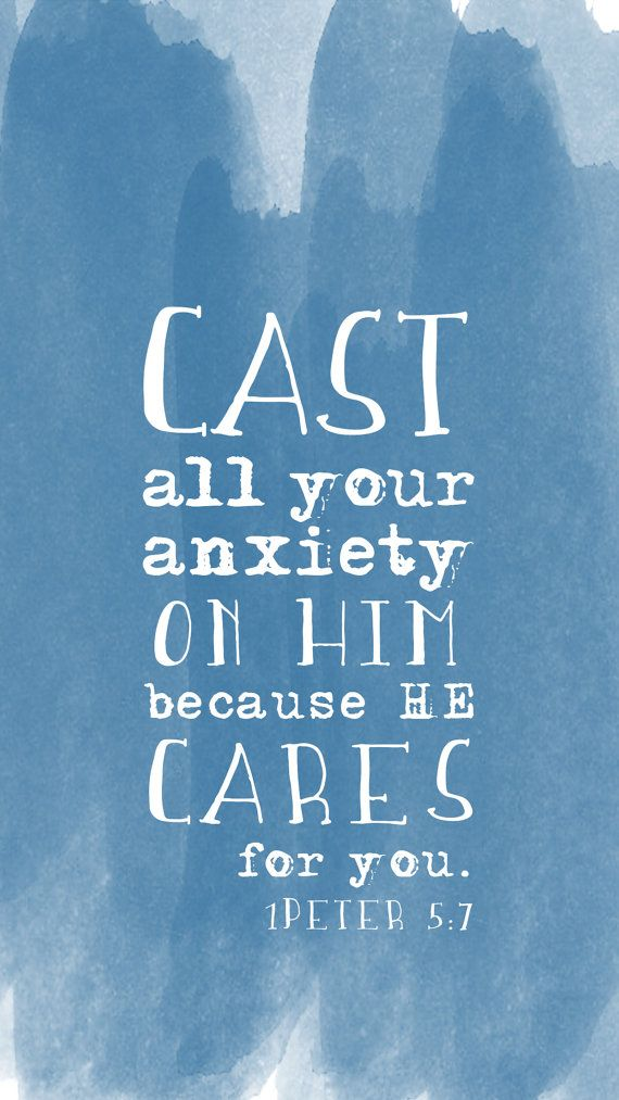 1 Peter 5:7 iPhone Lock screen / lock screen / iphone lock screen   Loving God with all Your ...