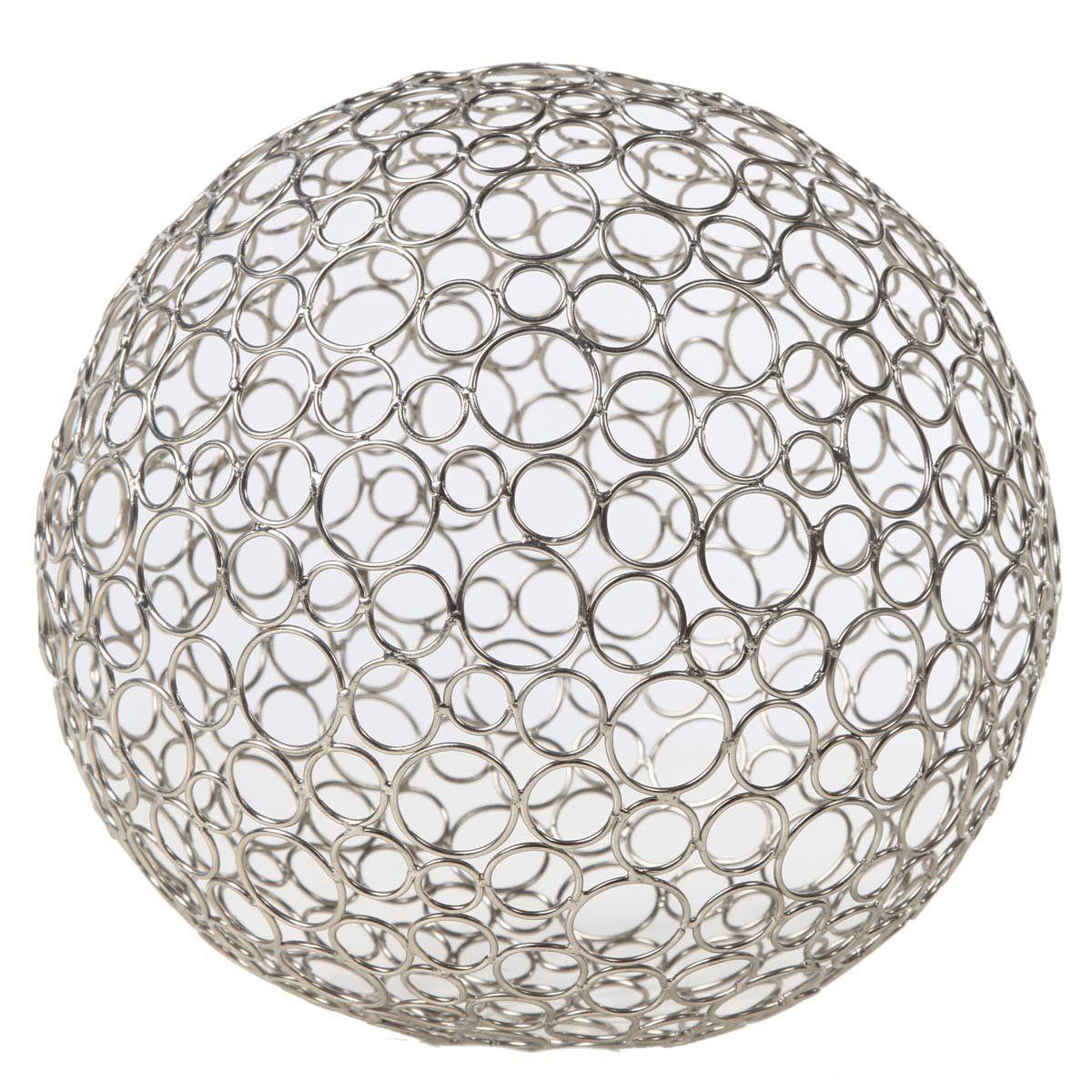 Silver Decorative Balls Amazon  Gold Leaf Design Group 3803423 Metal Circle