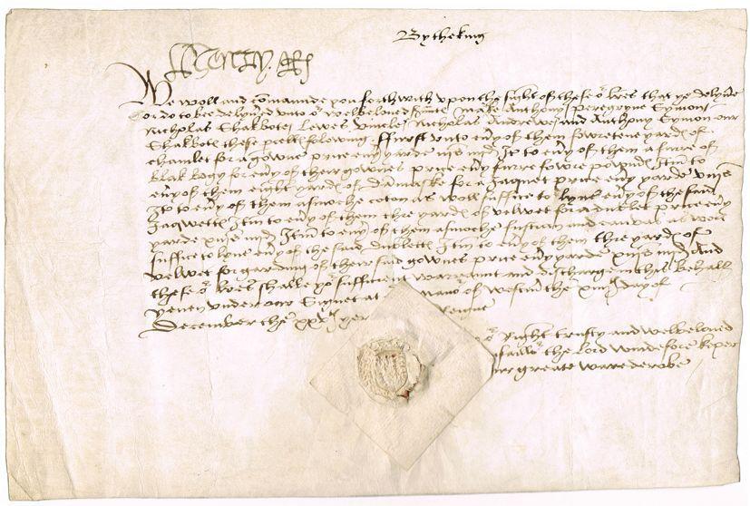 HENRY VIII, KING OF ENGLAND Letter Signed Unframed for sale