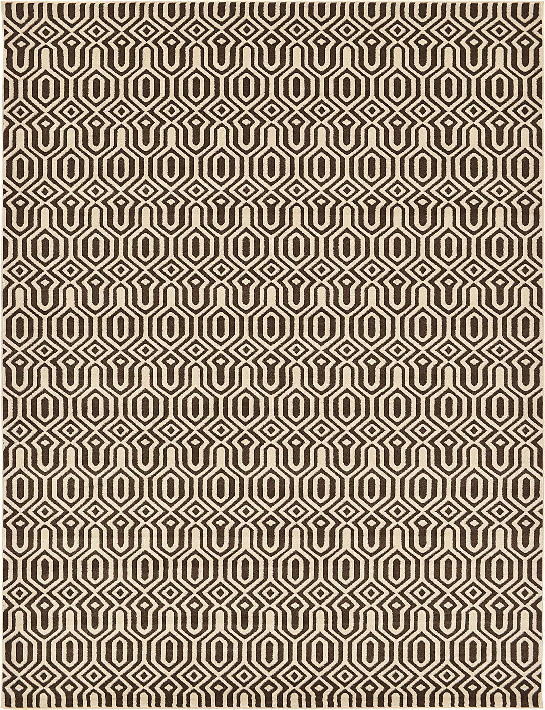 Brown 9' x 12' Trellis Rug | Area Rugs | eSaleRugs