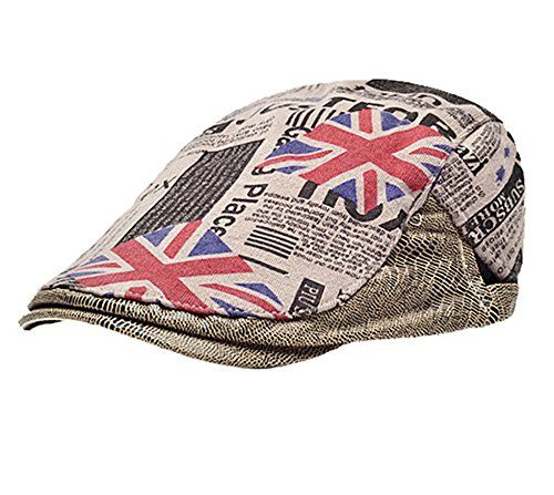 a1333c421a7  14.18 Cotton Flat Caps Men Women Adult Retro Style Pringting Summer Sun  Hats