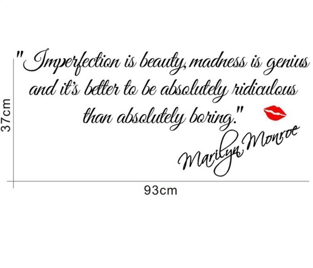 M imperfection is beautymarilyn monroe wall