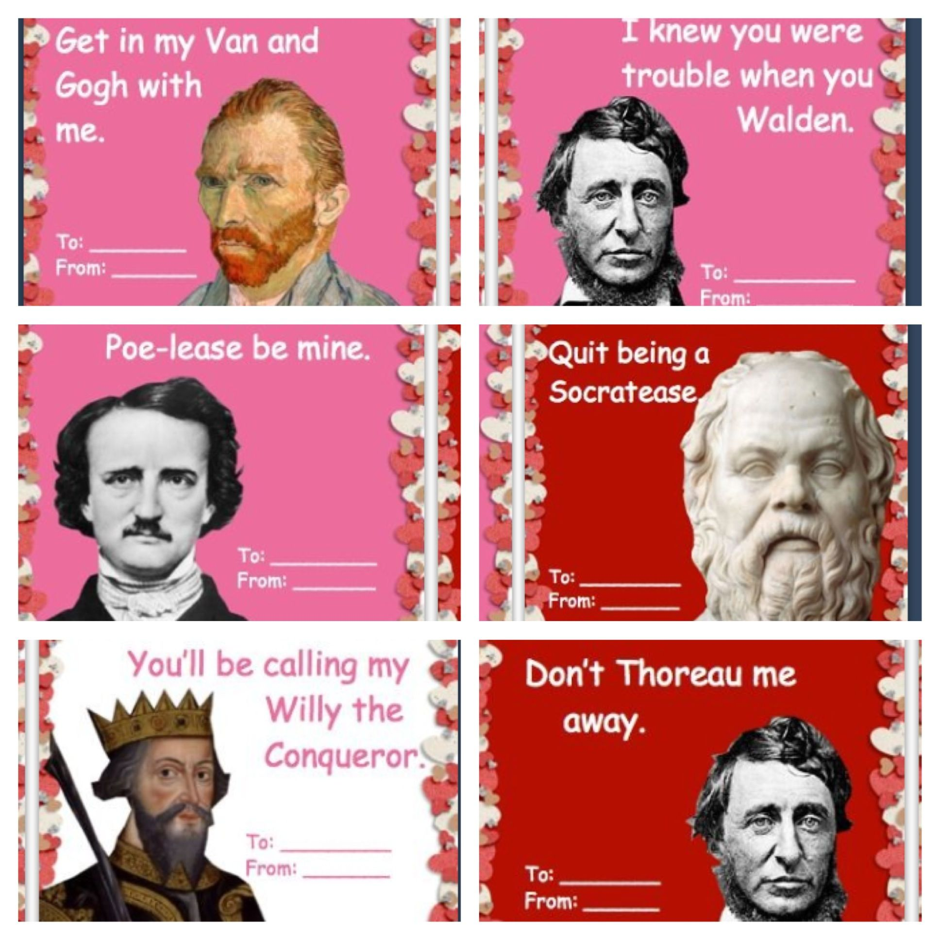 LOL funny history reference valentines day cards. Cute ...
