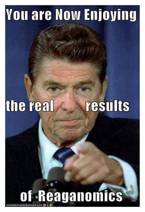 Reaganomics is slowly destroying America