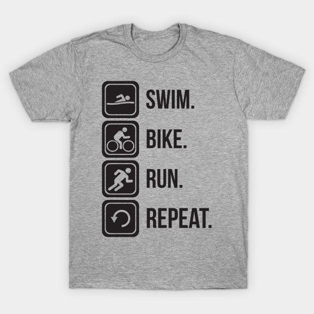 Pin By Seven Dots On T Shirts Triathlon Bike Run Bike