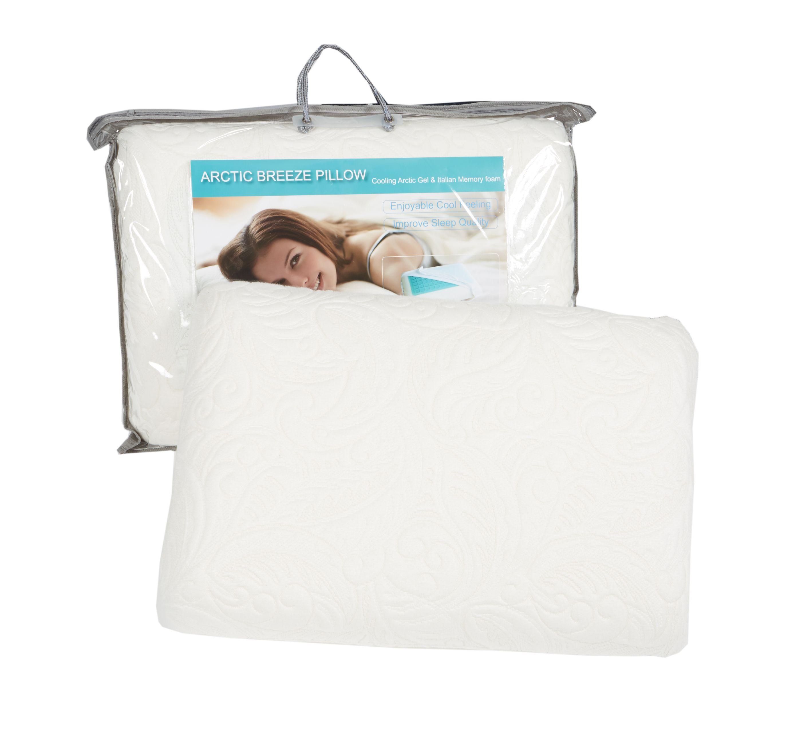 Cool Tech Gel Infused Memory Foam Pillow By Easy Rest Queen Firm Pillows Pillows Memory Foam Pillow