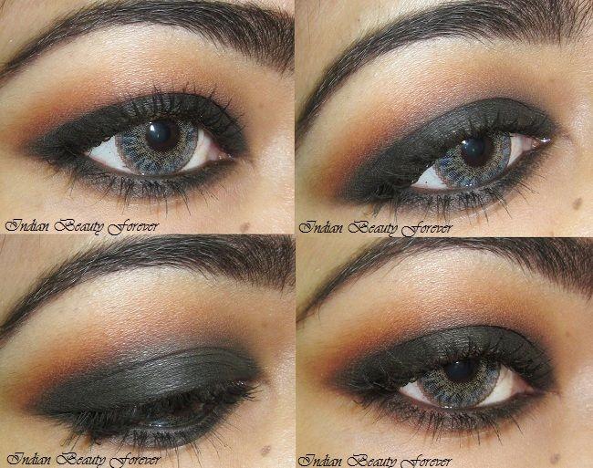 Smokey Black eye makeup Tutorial with steps
