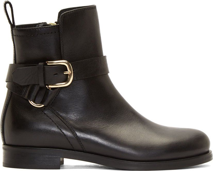 McQ Alexander McQueen Black 'For Walking' Ankle Boots i5gDv