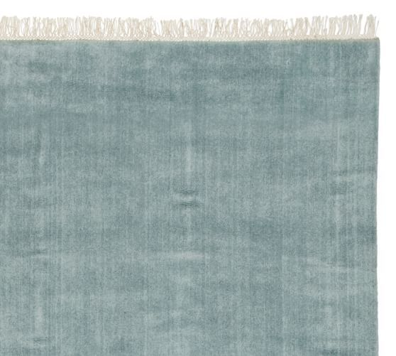 Fringed Hand Loomed Rug   Blue Smoke | Pottery Barn. $299 For 5x8.
