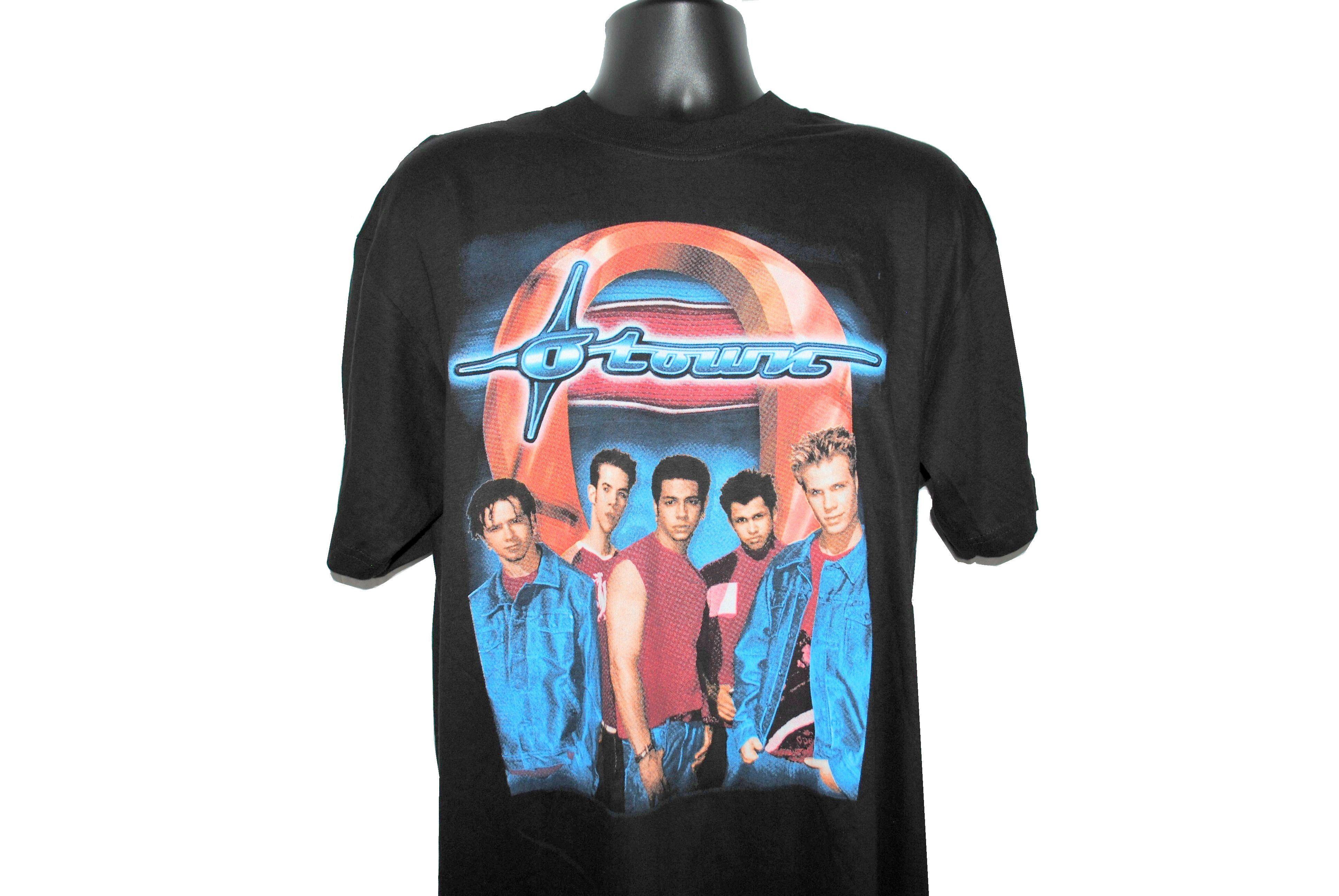 2003 O-Town Rare Vintage We Fit Together Era Hip Hop Style Parking Lot Bootleg MTV Making The Band Pop Music Concert Tour T-Shirt